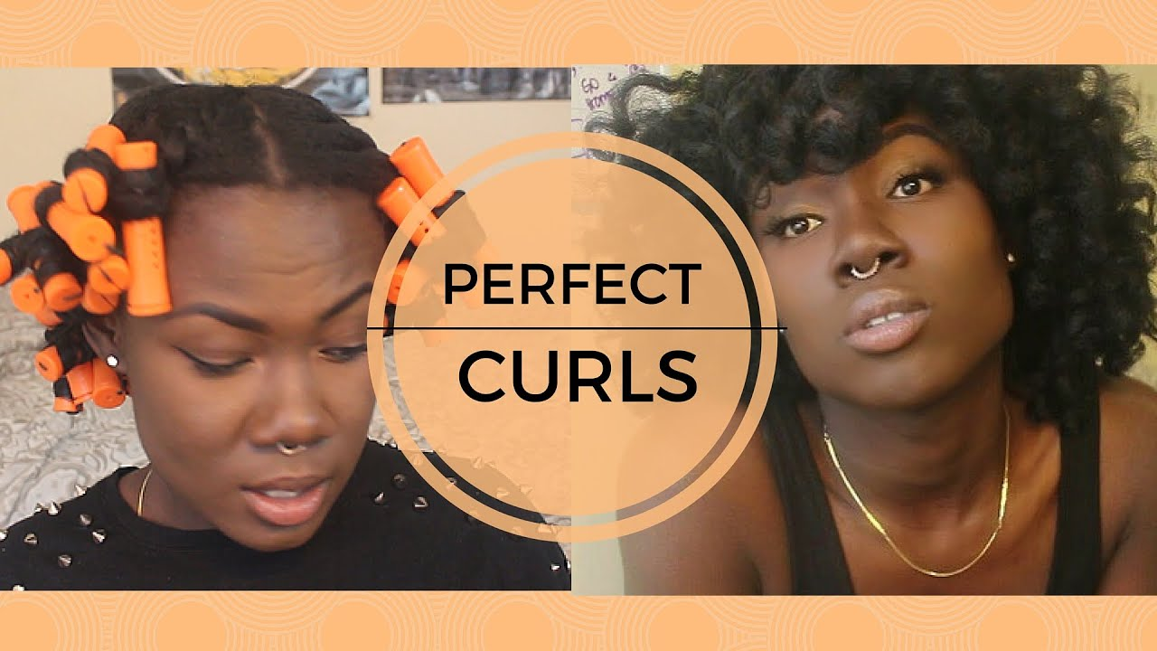 MY CURLY HAIRSTYLE | Flat Twist and Curl w/ Perm Rods - YouTube
