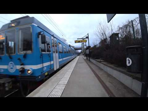 Sweden, Stockholm, train ride with Roslagsbanan from University to Royal Institute of Technology