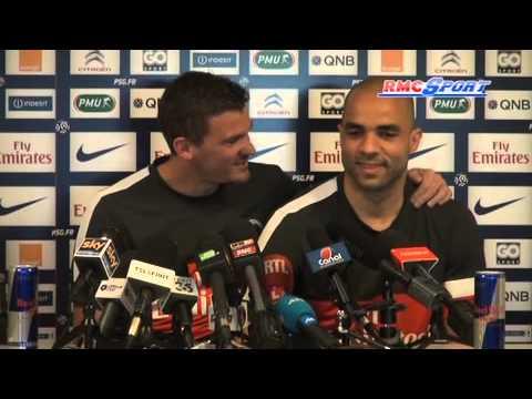 PSG / Douchez s'invite à la conférence de presse d'Alex - 10/05