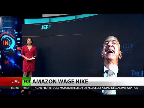 Bezos Worth 10 Billion Times Amazon Worker's Hourly Wage