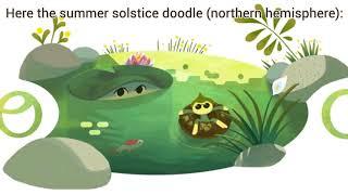 Summer Solstice 2018 Google Doodle