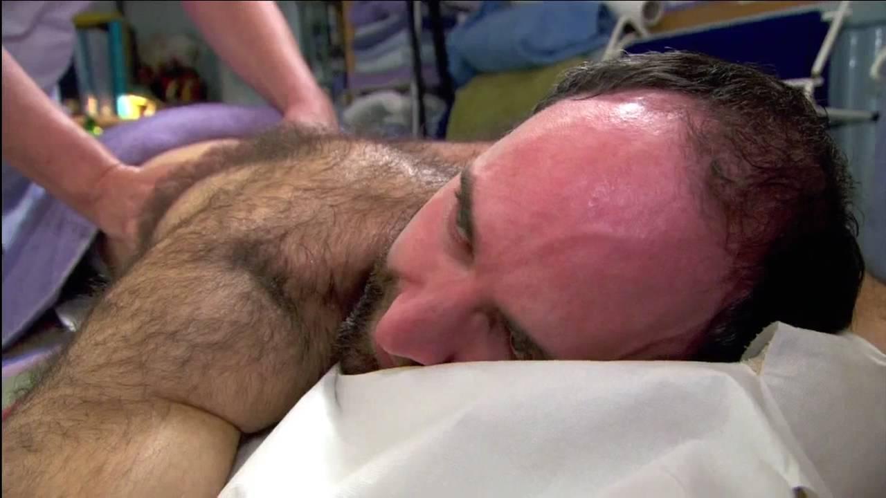 Hairy Male Massage