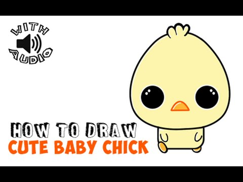 How to Draw Baby Duck or Chibi Duckling Chick (Simple ...