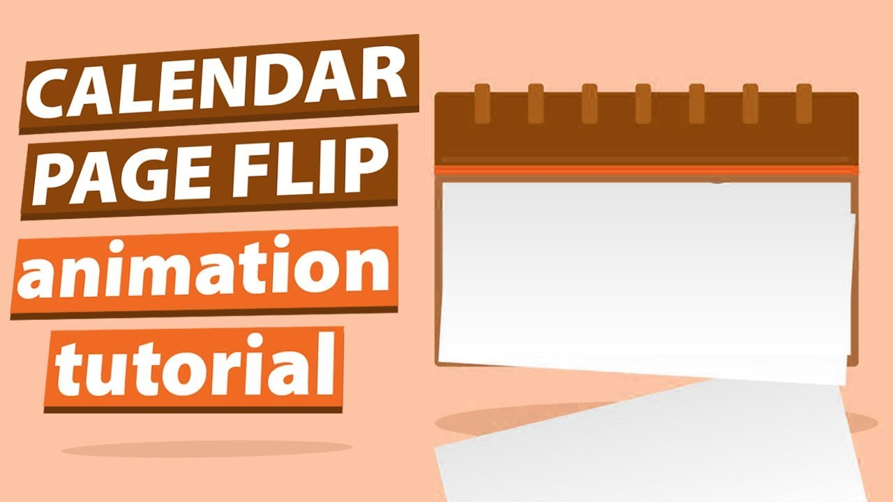 Calendar Page Flip in After Effects Motion Graphics Tutorial