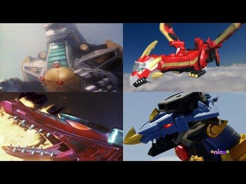 Power Rangers summon the Dragon Zords | Mighty Morphin - Ninja Steel | Superheroes Dragons