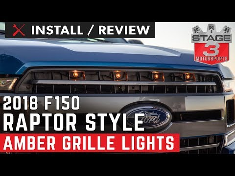 2018 F150 Custom Auto Works Raptor Style LED Grille Lights XL XLT And Lariat Install And Review