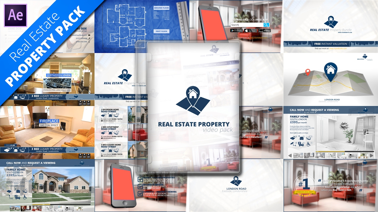 real estate property promo pack after effects template youtube. Black Bedroom Furniture Sets. Home Design Ideas