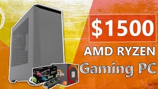 $1500 AMD RYZEN Gaming PC Build 2017! [4K ULTRA SETTINGS]