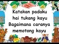 Song lyric Tukang Kayu