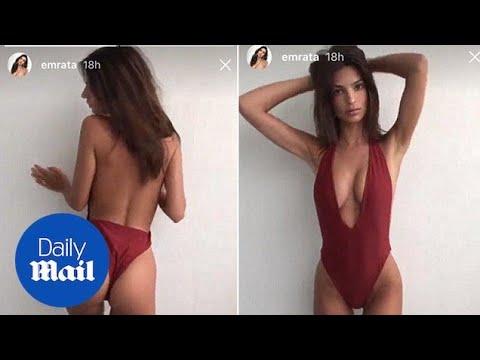 Emily Ratajkowski flaunts her model figure in her swimsuit line thumbnail