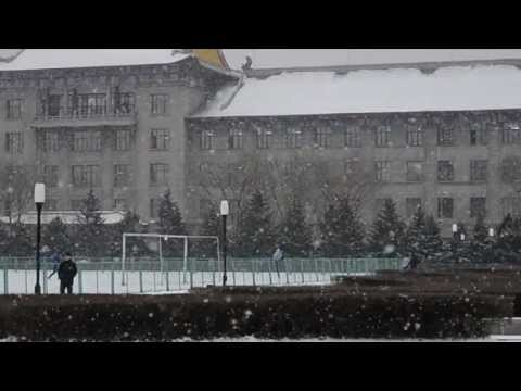 Harbin Engineering University in Winter [HD]