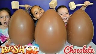 BASHING 3 Giant Chocolate Kinder Surprise Eggs - Monster High - Peppa Pig - MLP Toy Opening