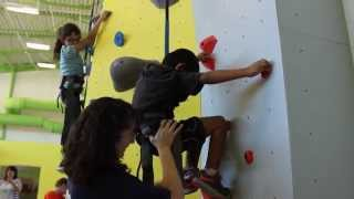 BLIND STUDENTS TAKE ON ROCK WALL!