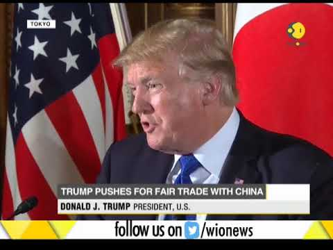 President Trump pushes for fair trade with China