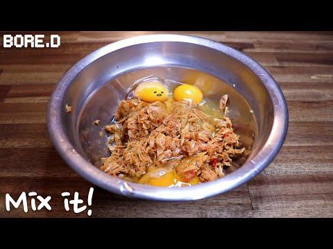 Korean Tuna Pancake | 참치전 | Cooking RPG
