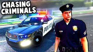 CHASING Criminals as a COP! Epic Police Shootouts! (GTA V Swat Mod Gameplay)