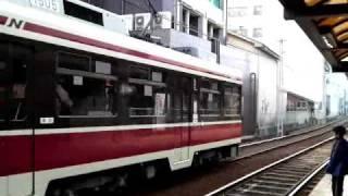 長崎電気軌道1500形1505 松山町発車