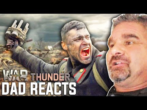 "Dad Reacts To ""Victory Is Ours"" Live-Action Trailer - War Thunder"