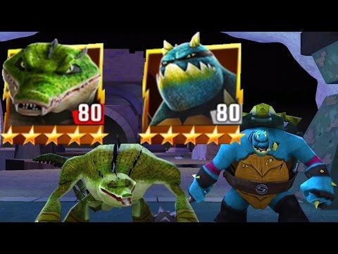 Slash And Leatherhead Crushing Enemies - TMNT Legends