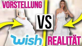 Kostenlose Dinge bei Wish bestellt 😱 Brautkleid: Vorstellung vs. Realität | XLAETA