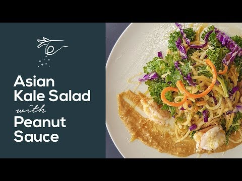 Alice Dixson's Asian Kale Salad with Peanut Sauce and a Dash of Donita