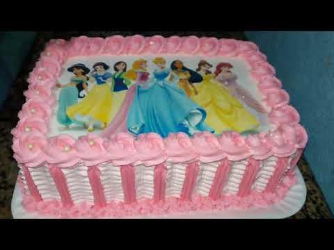 bolo as princesas quadrado