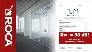 Стеклянные двери ROCA Decibel - хорошая защита от шума(Rw=30 db Фурнитура для стекла оптом - http://stekloman.ru., 2016-07-06T11:57:40.000Z)