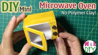 dIY Miniature Microwave Oven | Dollhouse | No Polymer Clay!