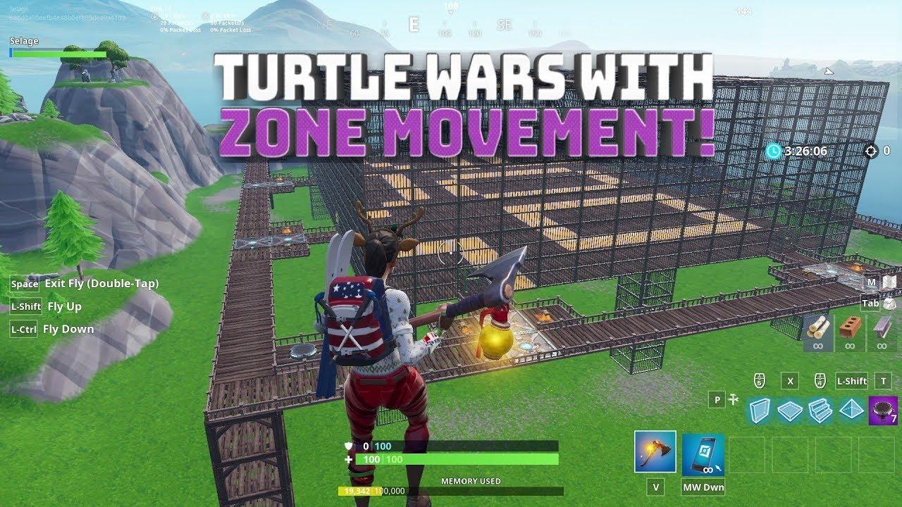 Turtle Wars with Moving Storm Mechanics! - Fortnite Battle Royale