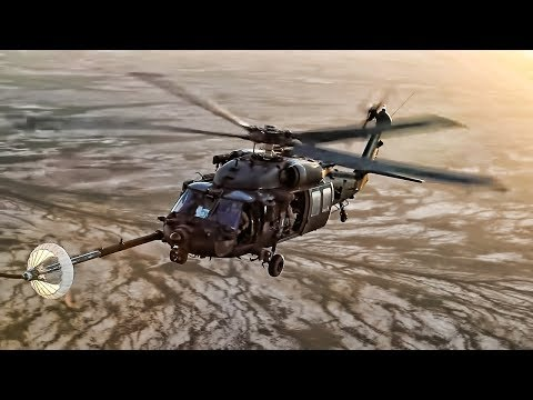Helicopters Refueling Inflight • Slow Motion