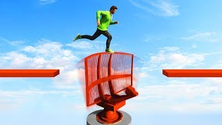 MILE HIGH OBSTACLE DEATHRUN! (GTA 5 Funny Moments)