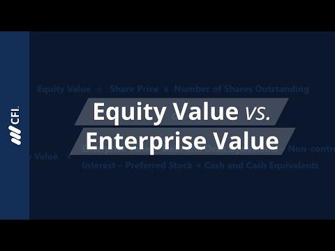 Equity Value vs. Enterprise Value