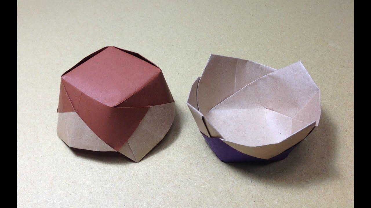 すべての折り紙 紙 箱 折り方 : ... 折り方 作り方 実用 入れ物