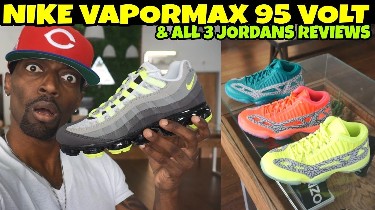 88a07d890b2 Nike Air Vapormax 95 Neon Volt Jordan 11 low IE Volt Jordan 11 low IE  Crimson