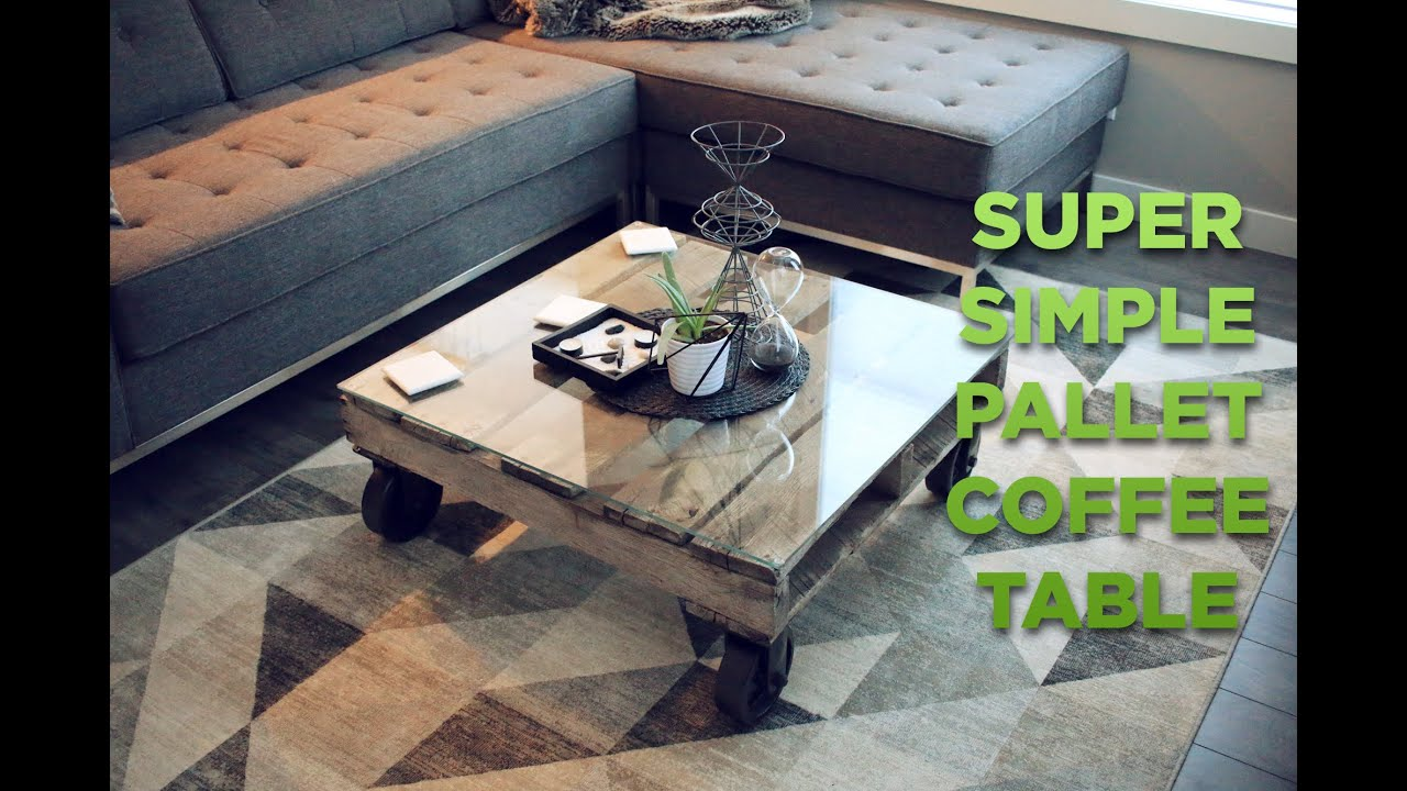 BUILD Super Easy Pallet Glass Coffee Table