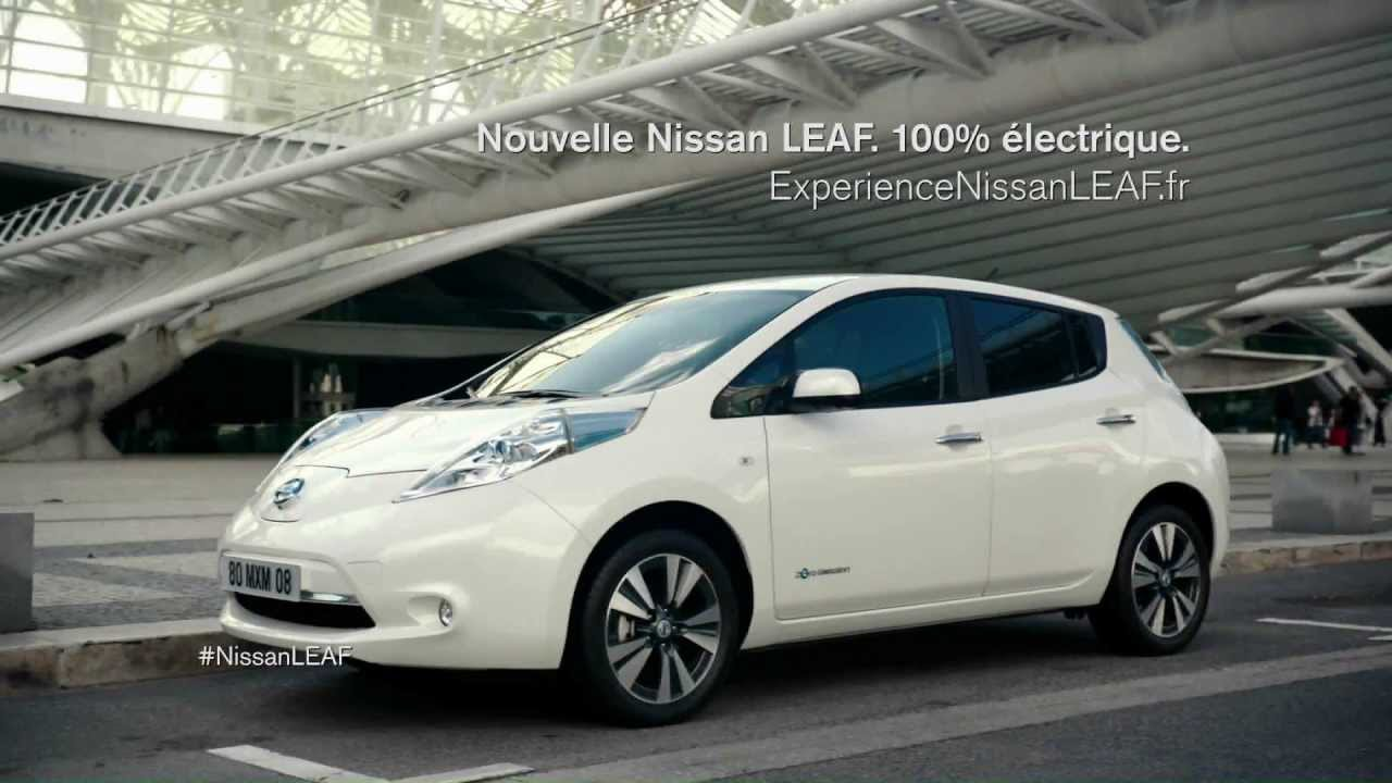 spot tv nouvelle nissan leaf youtube. Black Bedroom Furniture Sets. Home Design Ideas
