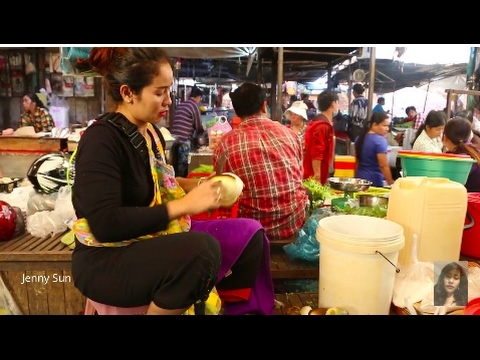 My Travel Around Cambodian Market In Phnom Penh City, Village Food, Asian Food