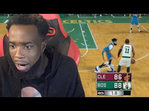 PALMS SWEATY! GUARDING KYRIE IRVING BUZZER BEATER! Cavs Vs. Celtics NBA 2K18 MyCareer Episode 10