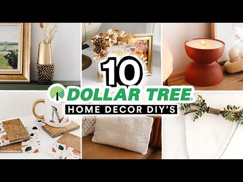 10 DIY DOLLAR TREE HOME DECOR PROJECTS - Affordable + Cute $1 Decor Transformations!