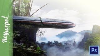 Mysteriously Plane Crash - Passengers still missing | Photoshop CS6 Time Lapse video