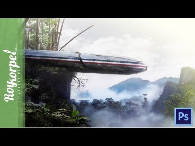 Mysteriously Plane Crash - photoshop speedart - time-lapse