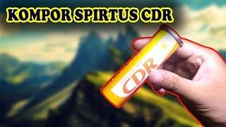 Cara Membuat Kompor Spirtus Mini Kaleng CDR