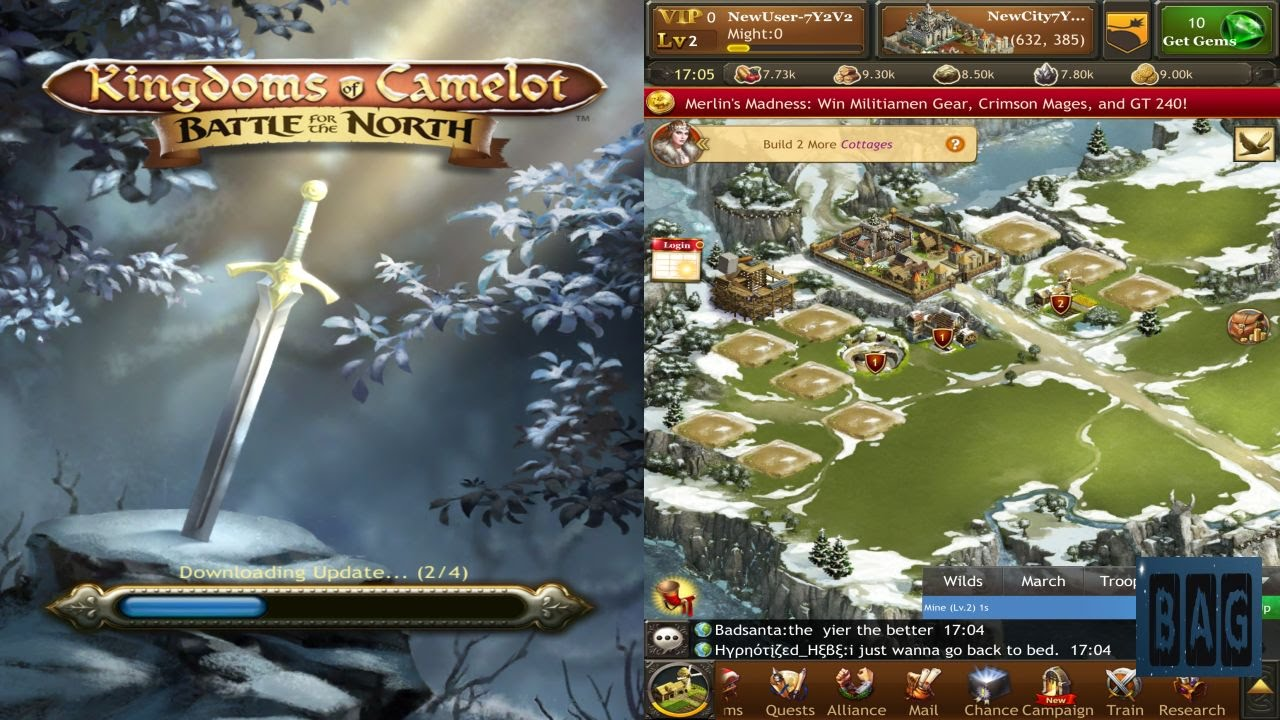Kingdoms of Camelot Battle for the North (HD GamePlay) on merlin map, runes of magic map, mabinogi map, elsword map,