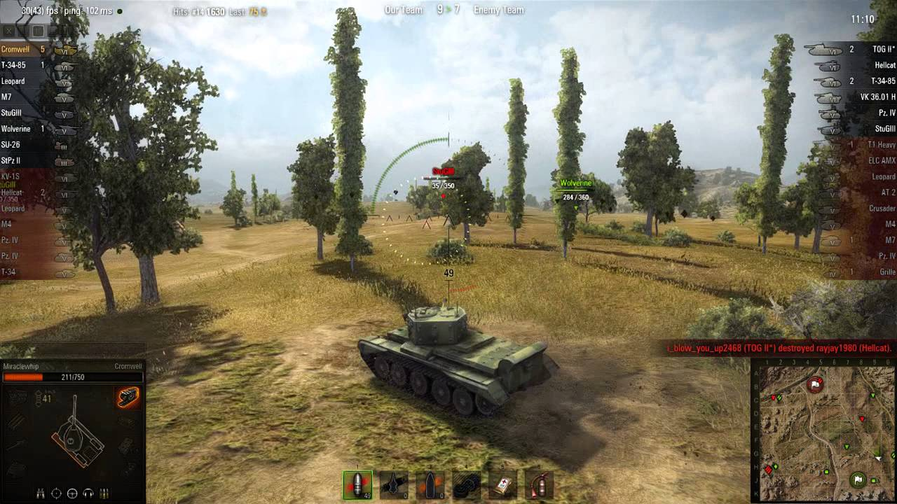 WOT: Steppes - Cromwell - 6 frags - Top Gun - YouTube
