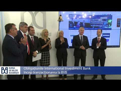 Obligațiuni International Investment Bank la Bursa de Valori București