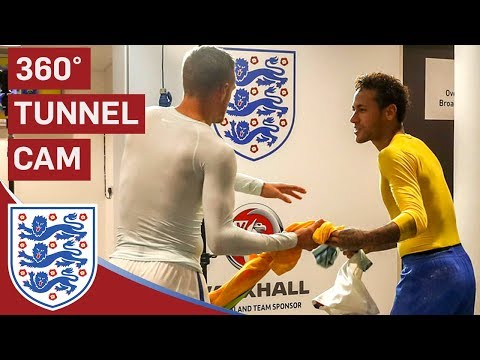 360° Tunnel Cam | Neymar Jr and Vardy Swap Shirts at Full Time
