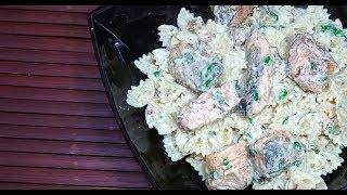 Salmon Cream Sauce Pasta - Fresh Salmon Recipes - White Sauce Salmon - Easy Salmon Pasta