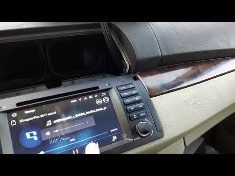 BMW X5 замена штатной магнитолы на андройд из китая