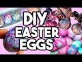 DIY EASTER EGG DESIGNS! DIY Shaving Foam Eggs, DIY Silk Tie Eggs, DIY Crayon Eggs