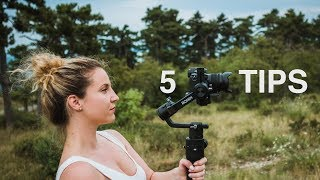 DJI RONIN-S | 5 Tips on HOW TO use it for BETTER video | Flashlight, Sport, Underslung mode